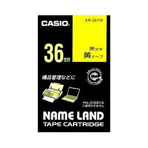 (業務用セット) カシオ(CASIO) ネームランド エコテープカートリッジ 黄に黒文字 36mm 【×5セット】 送料無料!