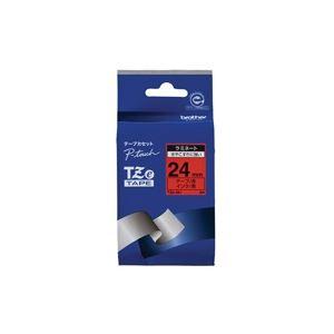 (業務用30セット) brother ブラザー工業 文字テープ/ラベルプリンター用テープ 【幅:24mm】 TZe-451 赤に黒文字 送料込!