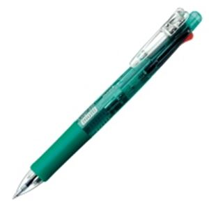 (業務用100セット) ZEBRA ゼブラ 多機能ペン クリップオンマルチ 【シャープ芯径0.5mm/ボール径0.7mm】 ノック式 B4SA1-G 緑 送料込!