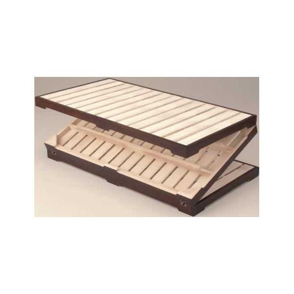 木製(桐)/スチール 桐三つ折りすのこベッド 【完成品】【代引不可】 送料込! セミダブル
