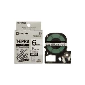 (業務用50セット) キングジム テプラ PROテープ/ラベルライター用テープ 【強粘着/幅:6mm】 SS6KW ホワイト(白) 送料込!
