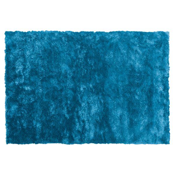 シャギーラグマット/絨毯 【190cm×130cm ブルー】 長方形 裏面滑り止め加工 RG-23BL 送料込!