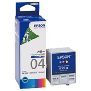 (業務用5セット) EPSON エプソン インクカートリッジ 純正 【IC3CL04】 3色カラー 一体型 送料込!