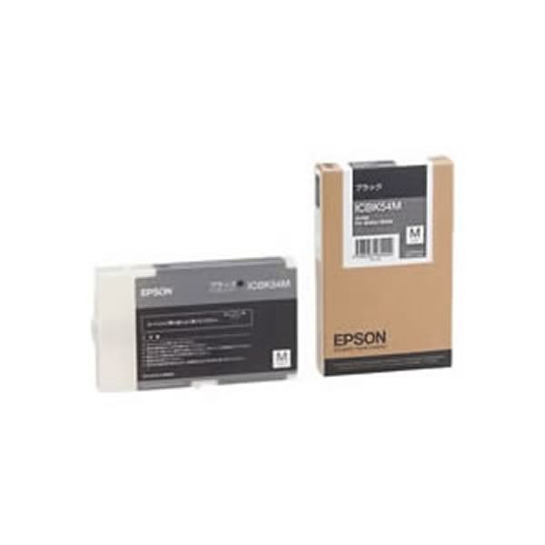 (業務用3セット) 【純正品】 EPSON エプソン インクカートリッジ/トナーカートリッジ 【ICBK54M BK ブラック】 送料無料!