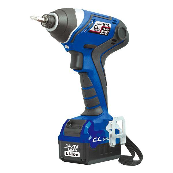 (業務用3個セット) trad 充電式インパクトドライバー(DIY用) TCL-001 14.4V ブルー 送料無料!