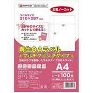 (業務用10セット) ジョインテックス 再生OAラベルノーカット 冊100枚 A223J 送料込!