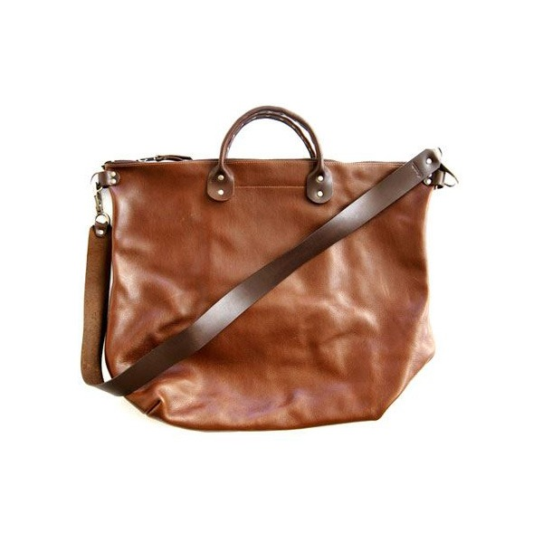 ★dean(ディーン) Studded Handle Railway Bag トートバッグ 茶 送料無料!