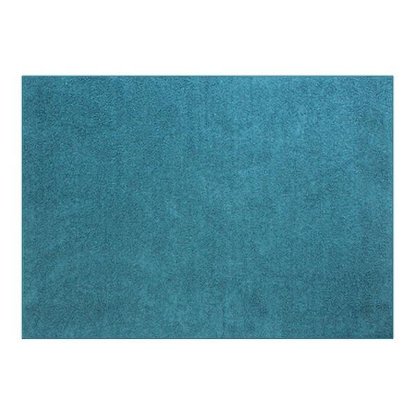 防音 ラグマット/絨毯 【フレイク 185cm×185cm 2帖 ブルー】 正方形 床暖房可 防滑 オールシーズン 〔リビング〕【代引不可】 送料込!