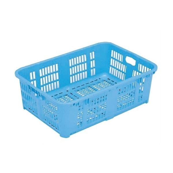 水産 大人気! 農業 クリーニング 学校 清掃など様々な分野で活躍するプラスチック箱です 5個セット プラスケット 宅配便送料無料 代引不可 ブルー No.1000 送料無料 スタッキング金具使用時:段積み可 金具なし 網目ボックス