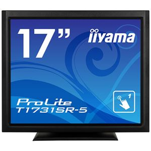 iiyama 17型タッチパネル液晶ディスプレイ ProLite T1731SR-5(抵抗膜方式/USB通信/シングルタッチ/防塵防滴/D-SUB/HDMI/DP) ブラック T1731SR-B5 送料込!
