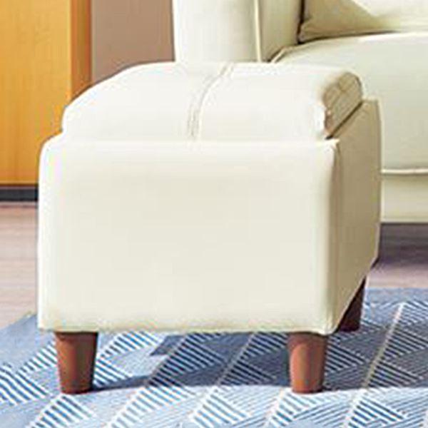 多目的 スツール/オットマン 単品 【アイボリー PVC】 幅40cm 収納スペース 樹脂製脚付き ウレタン 〔リビング〕 送料込!