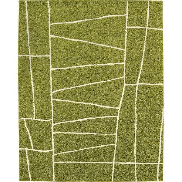 ラグマット カーペット 正方形 ホットカーペット対応 日本製 『ジオーニ』 ライトグリーン 190×190cm【代引不可】 送料込!