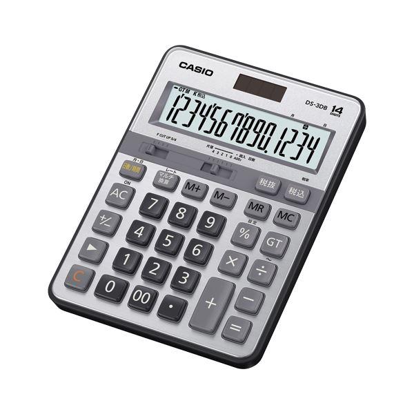 机に置ける安定した大型サイズ カシオ 実務電卓 デスクサイズ 人気海外一番 14桁 与え DS-3DB 送料無料