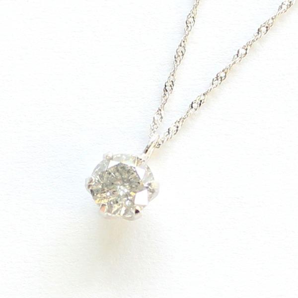 プラチナ0.45ct一粒石ダイヤモンドペンダント【代引不可】 送料無料!