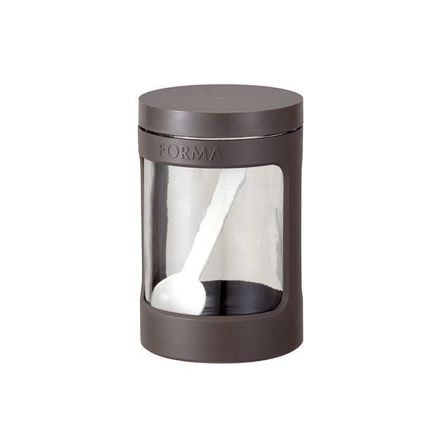 (まとめ) ガラスポット/調味料入れ 【ブラウン】 680ml 計量スプーン付き ガラス容器 キッチン用品 『フォルマ』 【30個セット】 送料込!