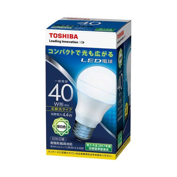 (まとめ) 東芝ライテック LED電球 広配光40W 昼白色 LDA4N-G-K/40W【×10セット】 送料無料!