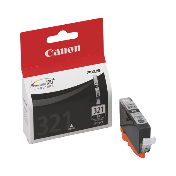 (まとめ) キヤノン Canon インクタンク BCI-321BK ブラック 2927B001 1個 【×10セット】 送料無料!