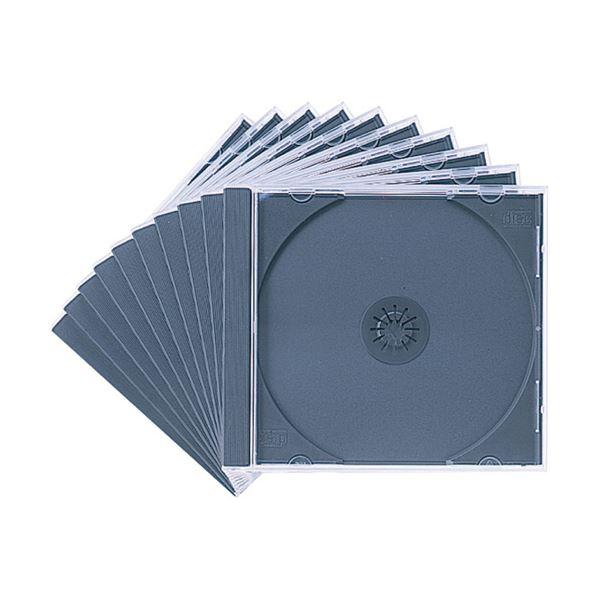 (まとめ) サンワサプライ DVD・CDケース10mm厚 1枚収納 ブラック FCD-PN10BK 1パック(10枚) 【×30セット】 送料無料!