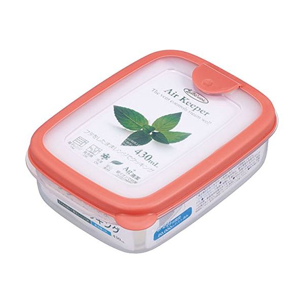 (まとめ) スナックケース/保存容器 【ソフトオレンジ】 430ml 抗菌効果 食洗機可 『エアキーパー』 【×60個セット】 送料込!