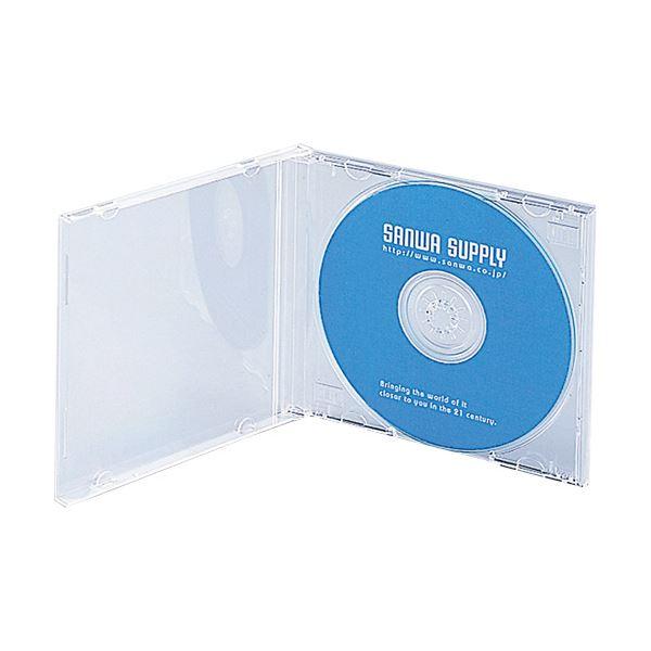 (まとめ) サンワサプライ DVD・CDケース10mm厚 1枚収納 クリア FCD-PN10C 1パック(10枚) 【×30セット】 送料無料!
