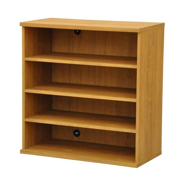 カラーボックス(収納棚/カスタマイズ家具) 4段 幅78.9×高さ81.9cm セレクト9080BR ブラウン【代引不可】 送料込!