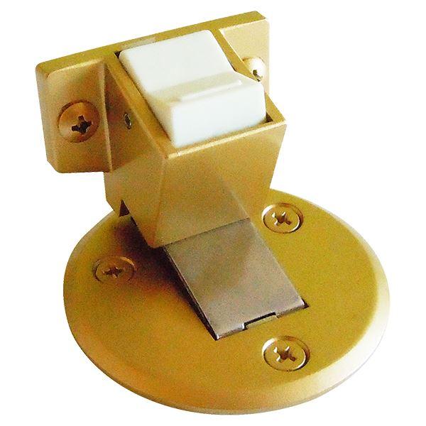フラット戸当りZ型 ストップ付面付型 ゴールド塗装 [6個入] 送料込!
