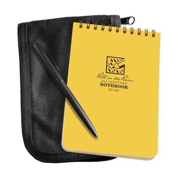 トップスパイラルノートブックとカバー ペンがセットになっています 豊富な品 メイルオーダー まとめ ライトインザレイン キットイエローブック 1冊 ブラックカバー 送料無料 ×3セット 146B-KIT