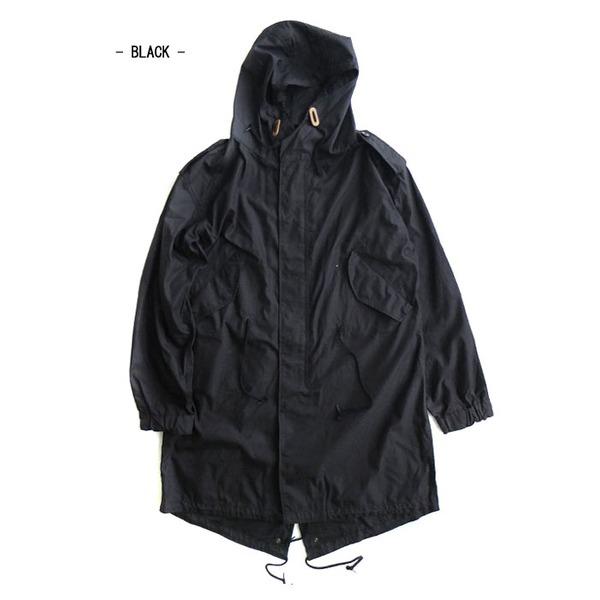 アメリカ軍「M-51」青島ライナーモッズコートシェル リバイバルモデル ブラック《Sサイズ(日本対応サイズXL相当)》 送料無料!