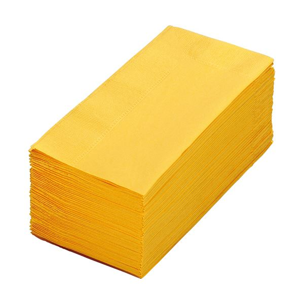(まとめ) カラーナプキン 2PLY 8つ折 レモン 2PLU-28-L 1パック(50枚) 【×30セット】 送料無料!