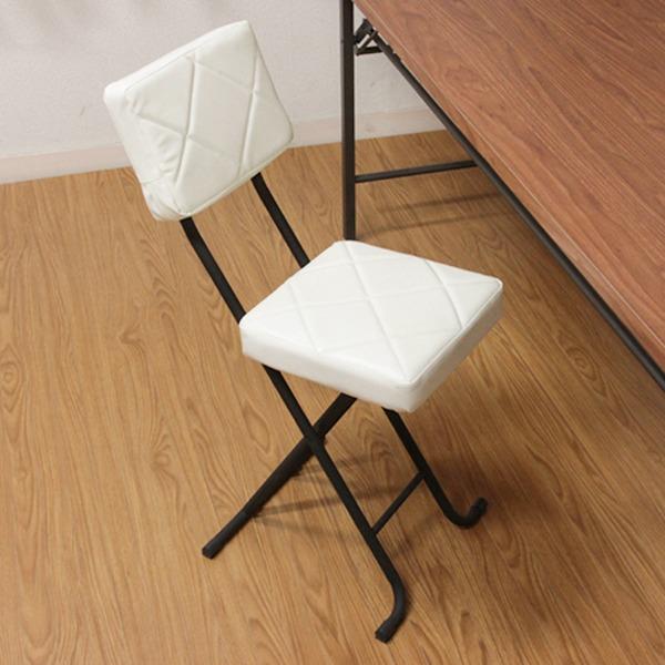 折りたたみ椅子/フォールディングチェア 【ホワイト】 コンパクト 『KIRTO キルト』 【4個セット】【代引不可】 送料込!
