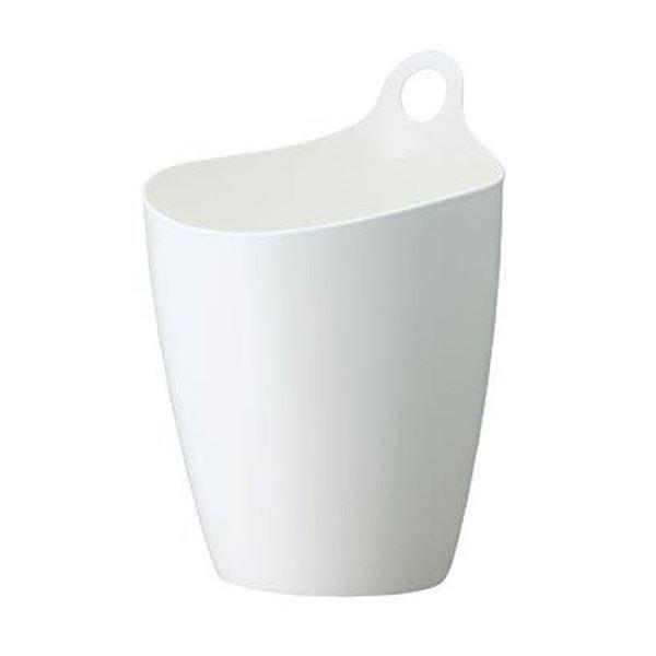 (まとめ) 収納カゴ/ゴミ箱 【5L】 プラスチック製 ライズ ホワイト インテリア雑貨 【×36個セット】 送料込!