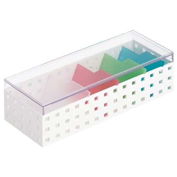 カードケース/名刺ボックス 【幅10.5×奥行28×高さ8.3cm】 仕切り付き ミックス 【16個セット】 送料込!