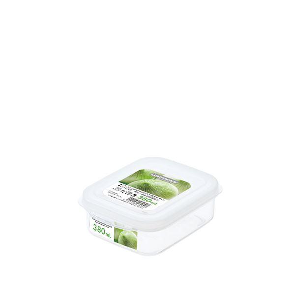 (まとめ) スナックケース/保存容器 【Sサイズ】 スクエア型 抗菌効果 電子レンジ可 【×120個セット】 送料込!
