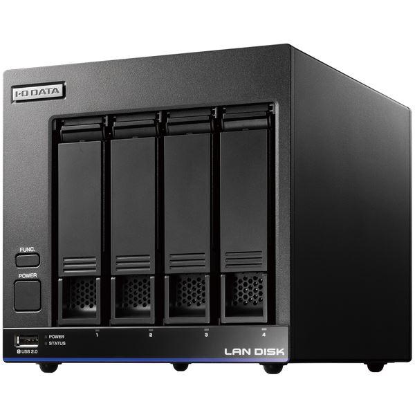 アイ・オー・データ機器 5年間の保守付き 40人程度の中規模オフィス向け4ドライブNAS「LAN DISK X」高性能CPU&NAS用HDD「WD Red」搭載 故障の予兆をお知らせ! 4TB 送料無料!