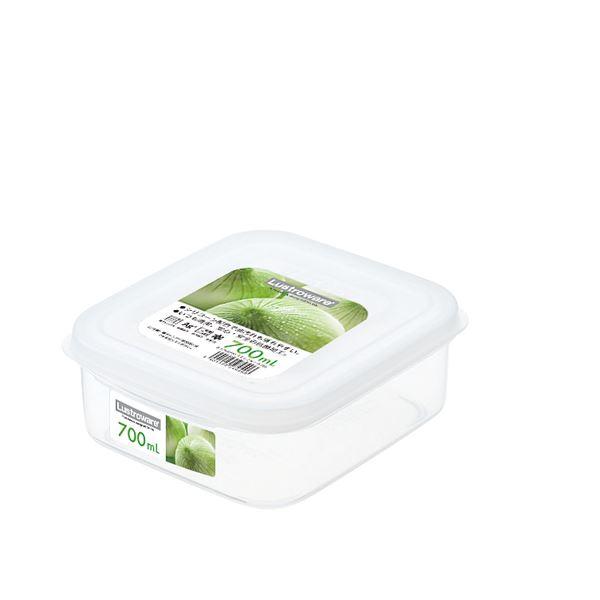 (まとめ) スナックケース/保存容器 【Mサイズ】 スクエア型 抗菌効果 電子レンジ可 【×80個セット】 送料込!