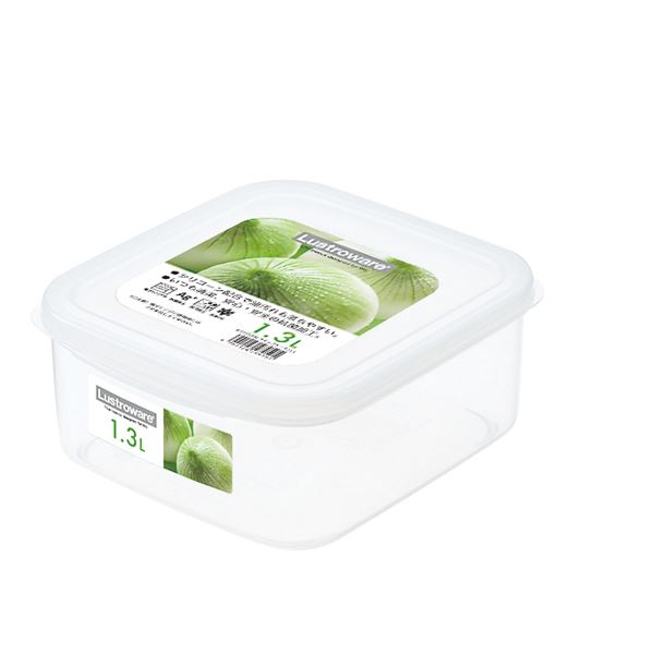 (まとめ) スナックケース/保存容器 【Lサイズ】 スクエア型 抗菌効果 電子レンジ可 【×80個セット】 送料込!