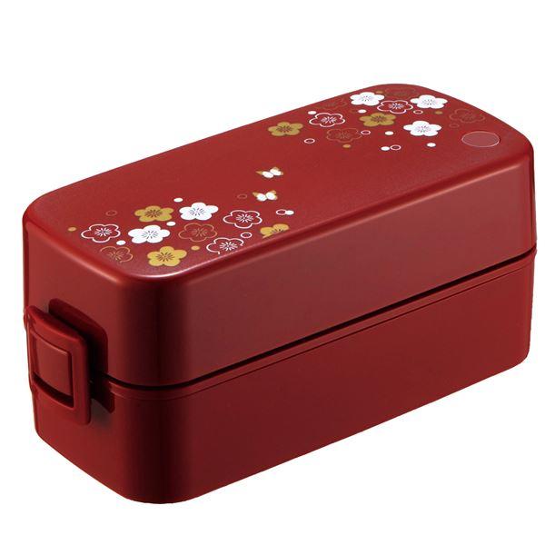 (まとめ) 和柄 弁当箱/ランチボックス 【うめ花】 2段 巾着バッグ付き 『ランタス』 【40個セット】 送料込!