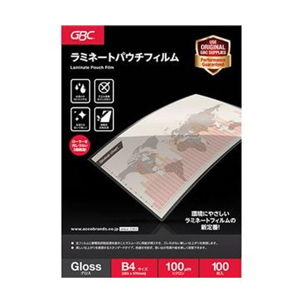 (まとめ)アコ・ブランズ パウチフィルムB4サイズ 100μ YP100B4Z 1パック(100枚)【×5セット】 送料無料!
