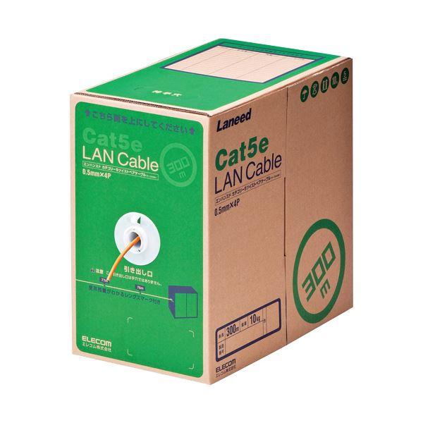 エンハンスド カテゴリー5 Cat5e 正規激安 対応のLANケーブル エレコム EU RoHS指令準拠LANケーブル 単線 DR300 RS 300m LD-CT2 送料無料 《週末限定タイムセール》 1本 オレンジ