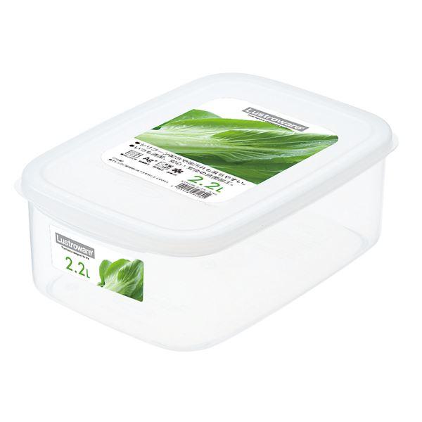(まとめ) フードケース/保存容器 【XLサイズ】 角型 銀イオンAg+効果 取っ手つき キッチン用品 【×40個セット】 送料込!