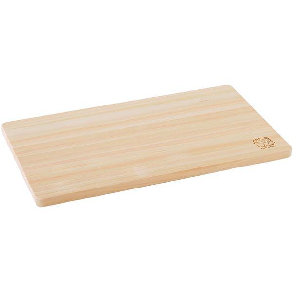 (まとめ) ひのき まな板/カッティングボード 【M】 薄型 42×24cm 木製 調理道具 日本製 【×20個セット】 送料無料!