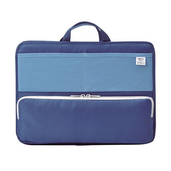(まとめ) リヒトラブ SMART FITbright label スタンドポケット (ヨコ型) A4 ブルー A-7664-8 1個 【×5セット】 送料無料!