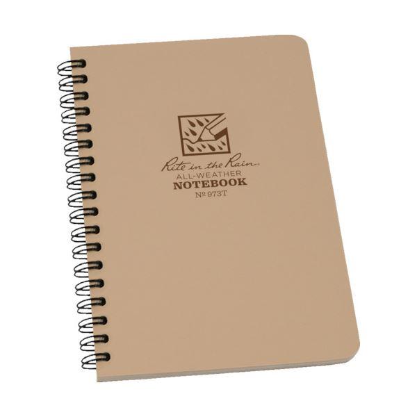 (まとめ) ライトインザレインスパイラルノートブック ユニバーサル タン 973T 1冊 【×10セット】 送料無料!