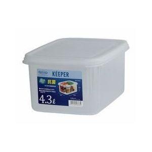 (まとめ) 保存容器/ジャンボケース 【S 深型】 抗菌効果 キッチン用品 『キーパー』 【×24個セット】 送料込!