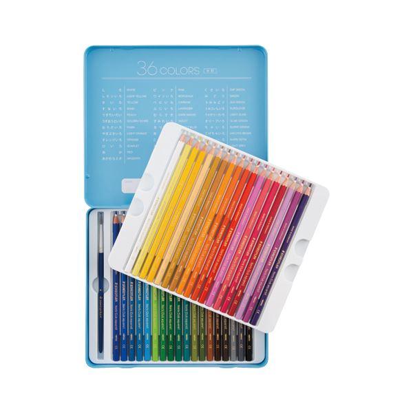 (まとめ) ステッドラー日本 ノリスクラブ 水彩色鉛筆 メタルケース入 36色セット【×5セット】 送料無料!