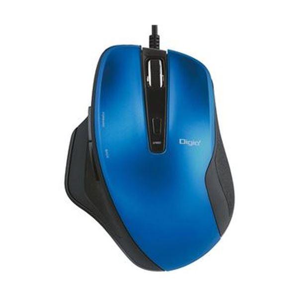 (まとめ)ナカバヤシ有線静音5ボタンBlueLEDマウス ブルー MUS-UKF156BL 1個【×5セット】 送料無料!