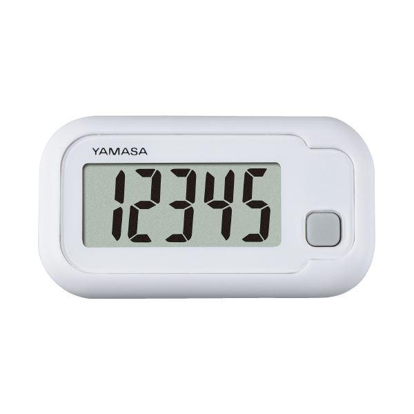 (まとめ)山佐時計計器 ポケット万歩 ホワイト TH-110(W)(×10セット) 送料無料!