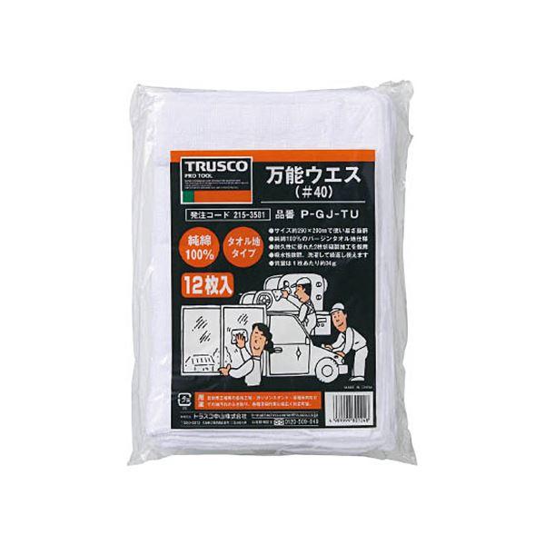 (まとめ)TRUSCO 万能ウエスシートサイズ290×200mm ホワイト P-GJ-TU 1袋(12枚)【×5セット】 送料無料!