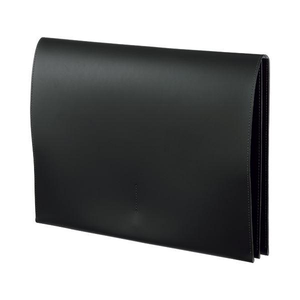 (まとめ) プロッシモ リサイクルレザー スリムレザーケース A4 ブラック PRORSCA4BK 1冊 【×5セット】 送料無料!