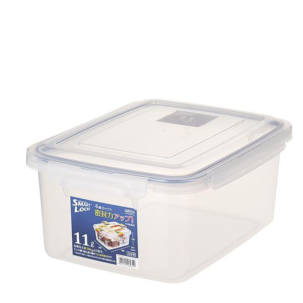 (まとめ) 保存容器/ロック式ジャンボケース 【11L】 銀イオン(AG+)配合 抗菌仕様 日本製 キッチン用品 【×16個セット】 送料込!